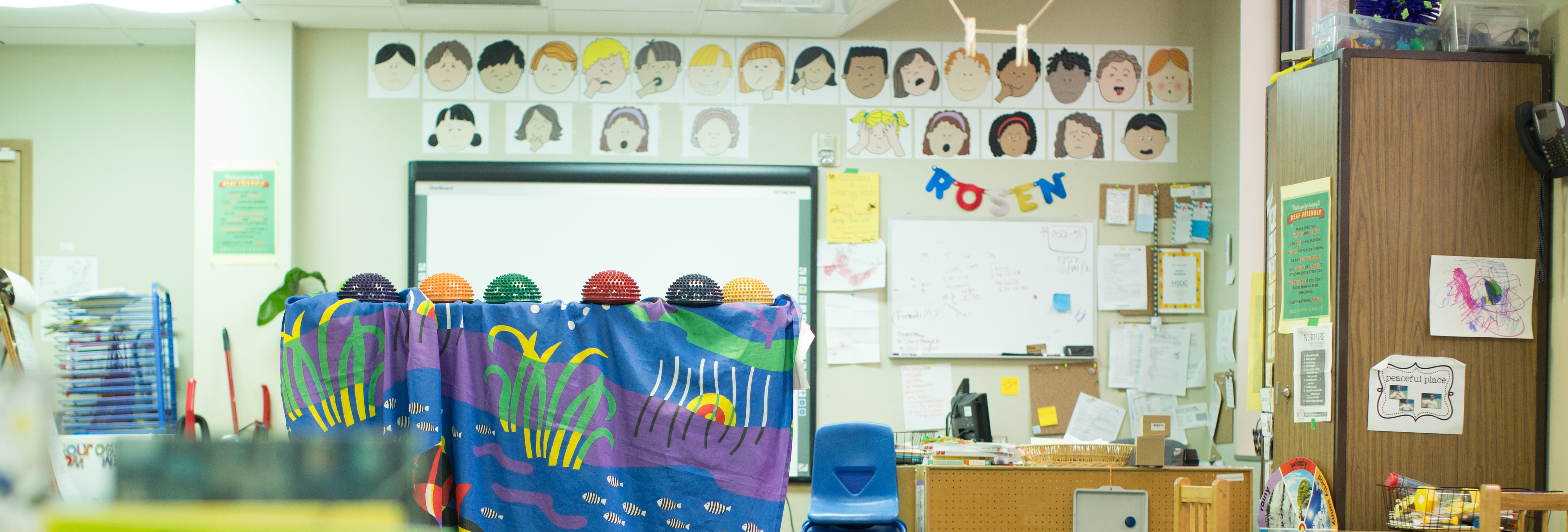 Picture of Rosen Family Preschool classroom.