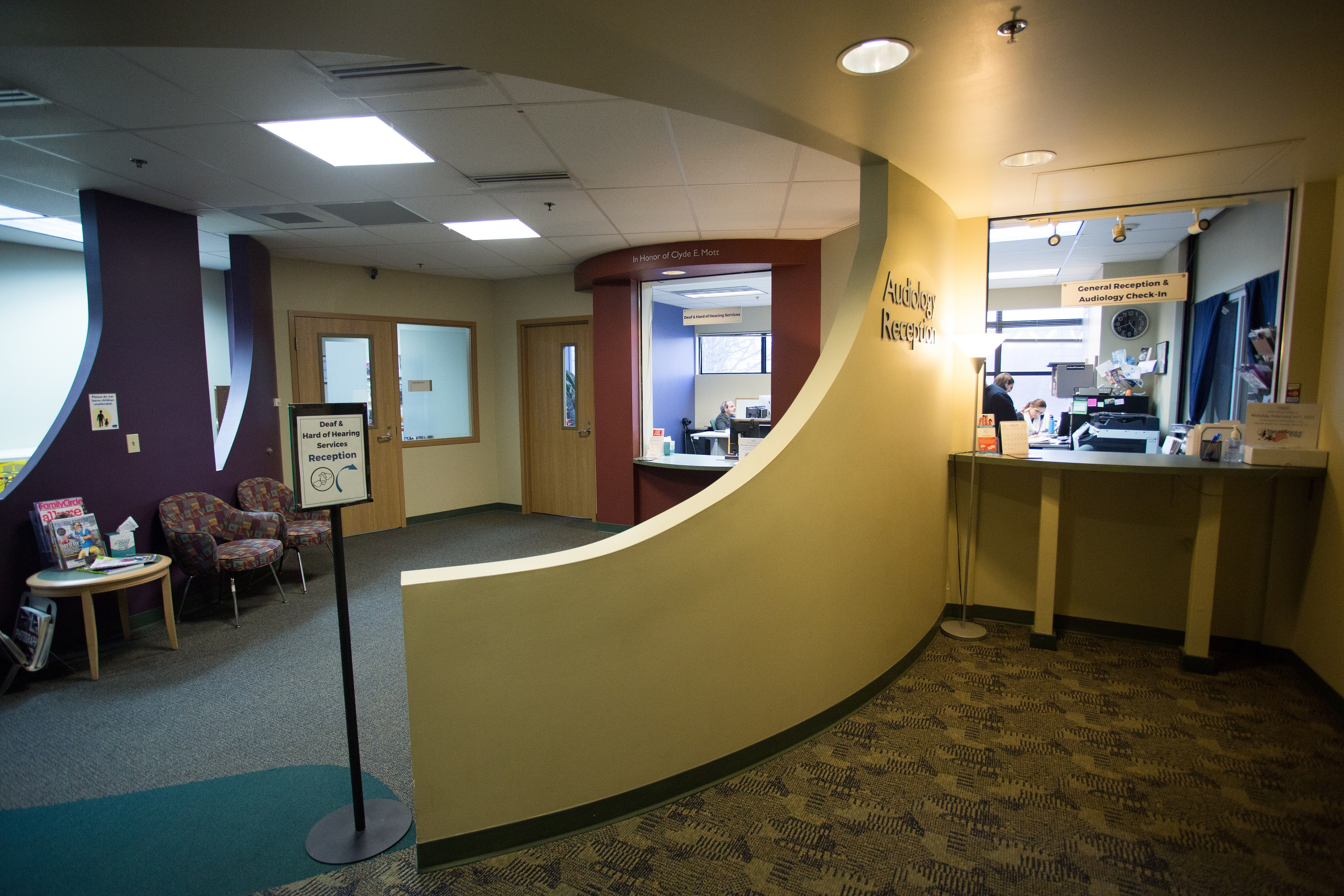 Picture of HSDC front desk area.