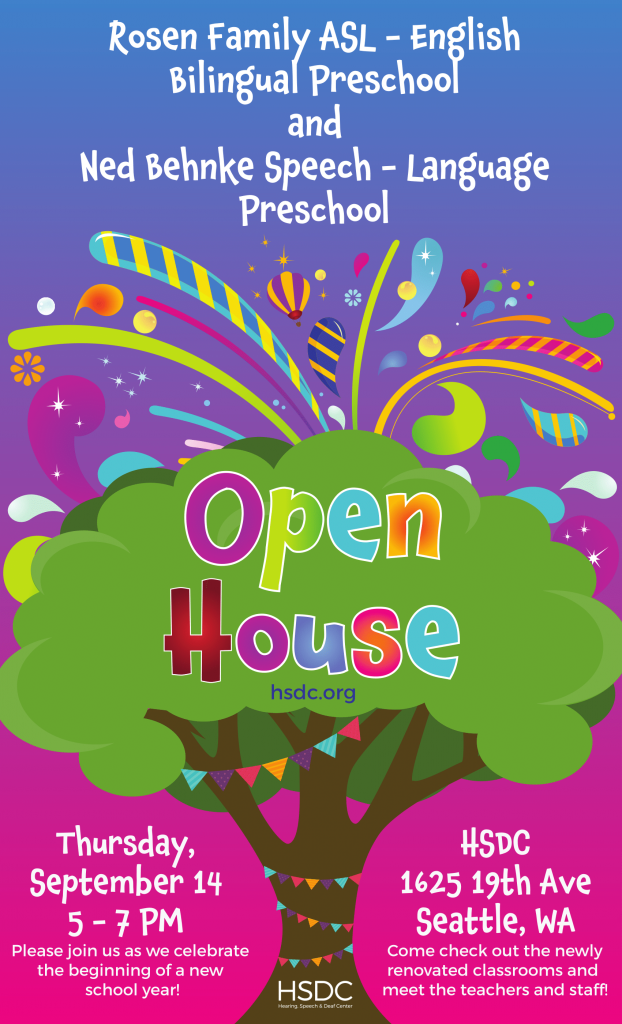 Preschool Open House Hearing Speech Deaf Center