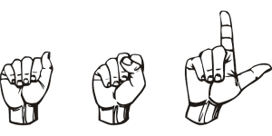 American Sign Language handshape spelling