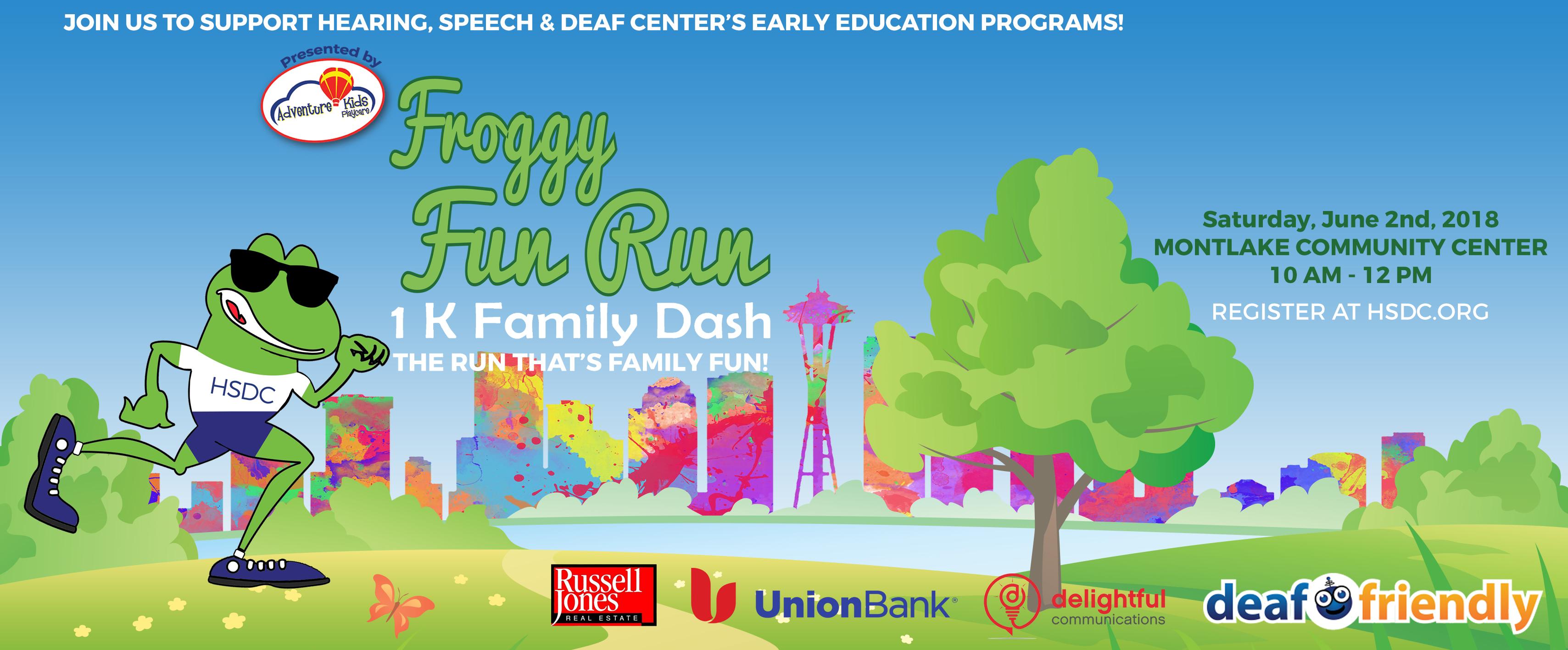 Froggy Fun Run 2018 Hearing Speech Deaf Center